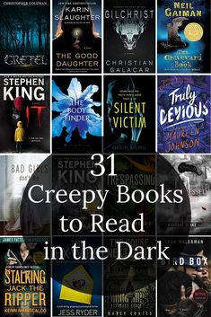 31 Scary Books To Read in the Dark Tonight - Perhaps, Maybe Not Best Books To Read, I Love Books, Good Books, My Books, Teen Books, Best Scary Books, Book Club Books, Book Lists, Reading Lists