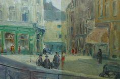 Schilderij van Harry Lips tijdens restauratie, Maastricht.   Restauratie Atelier P. Driessen vof