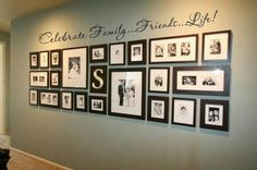 Family wall-not sure about the letters above