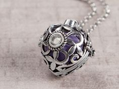 Love this Heart Crystal Angel Locket! It houses  a delicate chime— reminding that a loved one is near.