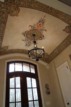 Alhambra Carpets & Panels Stencil | Modello® Designs | Artist: Michele Molek of Fashionable Finishes Ceiling Plan, Ceiling Tiles, Ceiling Decor, Ceiling Beams, Ceiling Lights, Ceilings, Diy Interior, Interior Design, False Ceiling Living Room