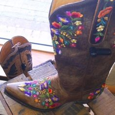 Saw these in Cheyenne WY, for the small price of $500.00 you can be the proud owner of these uh... Unique boots!