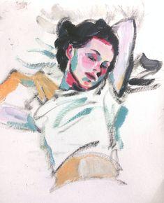 painting by Soul Eom 엄은솔 엄은소울 Natalie Portman of Closer Illustrations, Illustration Art, Art Sketches, Art Drawings, Oil Pastel Art, Pretty Art, Art Sketchbook, Aesthetic Art, Art Inspo