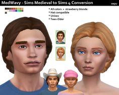 Medwavy Medieval hair conversion at Oepu Sims 4 via Sims 4 Updates