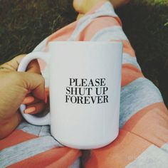Funny Sarcastic Ceramic Quote Coffee & Tea Mug  by FranklyNoted