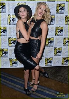 Willa Holland and Emily Bett Rickards at #Arrow Comic-Con 2015