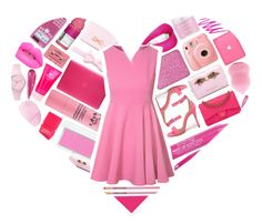 """""""I Wear Pink For Everyone. ♥"""" by xgracieeee ❤ liked on Polyvore featuring Shoe Republic LA, shu uemura, Stila, Urban Decay, RMK, Isadora, Chanel, Incase, Benefit and Monday"""