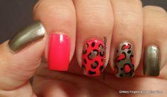 Glittery Fingers & Sparkling Toes: Neon Cheetah Print Short Nail Designs, Cool Nail Designs, Beauty Tips, Beauty Hacks, Art Nails, Nail Art Galleries, Perfect Nails, Cool Nail Art, Nails Magazine