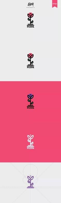 Puspa Logo Template AI, EPS