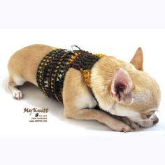 Christmas Gifts Dog Harness Crochet Clothes Natural by myknitt, $20.00 #cutedogs #chihuahua #crochet