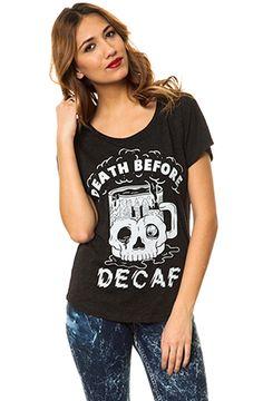 Pyknic Death Before Decaf Dolman Tee - Karmaloop.com