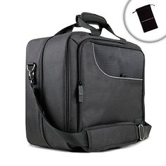 USA Gear Gaming Console Carrying Case for Travel with Adjustable Shoulder Strap - Compatible with PlayStation 4 Pro, Playstation PlayStation Xbox One, Xbox One S, Xbox One X & Xbox 360 - Black Playstation, Ps3, Xbox 360, Xbox One S, Wii U, Nintendo Wii, Nintendo Switch, Gaming Accessories, Bag Accessories