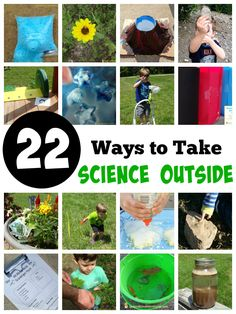 22 Outdoor Science Experiments and Activities - take science outside with these fun ideas! Are you ready to spend time outside? These outdoor science experiments and activities are just what you need. Ideas for different ages included. Science Week, Summer Science, Preschool Science, Science Lessons, Science For Kids, Science Projects, Learn Science, Primary Science, Science Chemistry