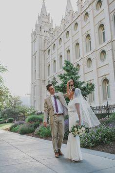 Utah Wedding Photographer / Summer Taylor Photography / Salt Lake Temple / Utah Bridals