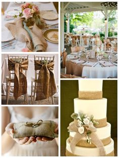 Aisle Ready: Earthy Wedding Details Burlap