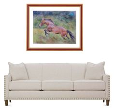 Jumping horse by canisartstudio on Polyvore featuring art and living room