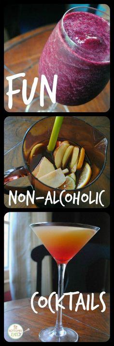 These are some seriously fun mocktails if you are nixing the alcohol. | Fit Bottomed Eats - would be good for book club or girlfriend brunch cocktails