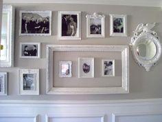 Gallery Wall Reveal - Dream Book Design -- love the little frames inside the open larger frame.