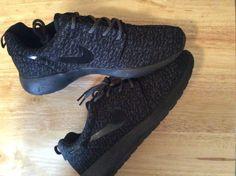 Custom Nike Roshe run Yeezy Pirate Platinum Black