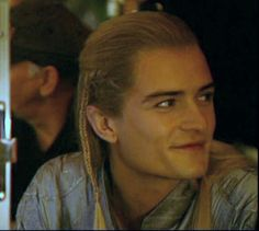 Orlando Bloom on set ~ I can't tell which movie this is from so it's going on LOTR