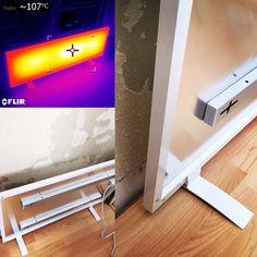 Udtørring med varmepanel. Effektivt, økonomisk og prisbilligt. Køb det ved SKADEteknik. Kontakt info@skadeteknik.dk