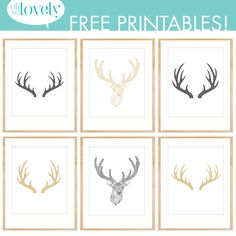 Oh So Lovely: Antler Decor + Free Antler Printables