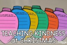 These ideas are perfect for teaching students about spreading kindness during the holiday season. Students will learn about the gift of giving.