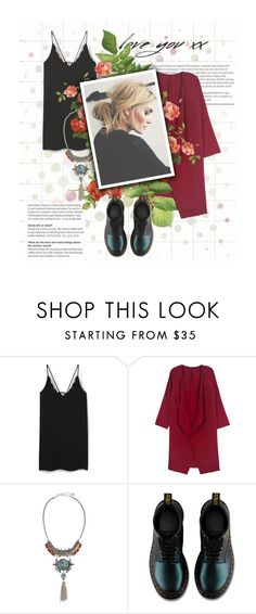 """""""Senza titolo #754"""" by labdesign ❤ liked on Polyvore featuring MANGO, WithChic, Lydell NYC, Dr. Martens and Monday"""