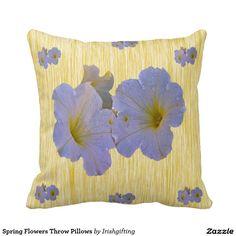 Spring Flowers Throw Pillows Throw Cushion