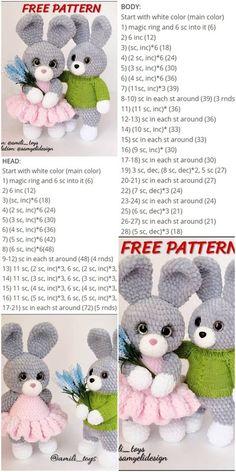 Amigurumi Kadife İple Bunny Crochet Free Pattern - Crochet.msa.plus