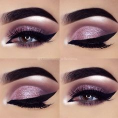 There are just so many varieties and brands of eye makeup these days making it difficult to know what to wear and when you should wear it. With a bit of advice and practice, you can figure out how to choose among the many eye makeup looks for your. Purple Eye Makeup, Makeup Eye Looks, Green Makeup, Eye Makeup Art, Natural Eye Makeup, Eye Makeup Tips, Smokey Eye Makeup, Cute Makeup, Makeup Ideas