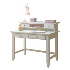 Have to have it. Home Styles Naples Student Desk with Hutch - White - $331.67 @hayneedle