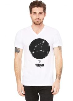 Minimal Virgo Zodiac Sign V-Neck Tee