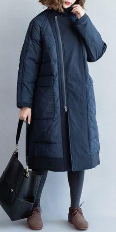Fashion Elegant Women Long Down Coat Casual Winter Jackets - GotoPinter Winter Jackets Women, Winter Outfits Women, Casual Winter Outfits, Casual Summer Dresses, Coats For Women, Clothes For Women, Dress Casual, Long Down Coat, Bolero