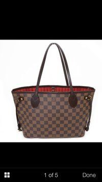 Louis Vuitton Damier Ebene Neverfull Shoulder Bag $1,010