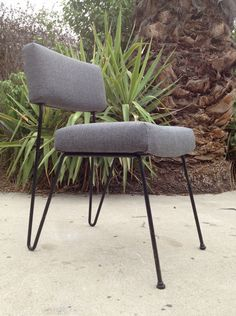 Hairpin Leg Corner Chair.
