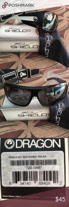 253bcd780e7 Dragon Shield jet white grey polarized sunglasses