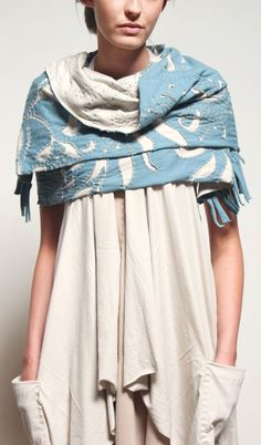 Alabama Chanin's DIY Magdalena Shawl. Comes ready-to-sew and includes all fabric and thread.