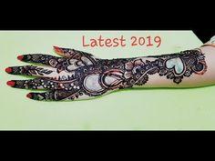 New Latest Mehndi Design Mehndi Designs For Hands, Mehandi Designs, New Latest Mehndi Design, Hand Mehndi, Hand Tattoos, Learning, Youtube, Studying, Hand Mehndi Design