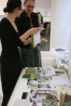 Interior Design - Module One: Tutor Lyndall Fernie advising a student on their work. Photo: Lisa Hall