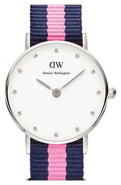 Daniel+Wellington+'Classy+Winchester'+Crystal+Index+NATO+Strap+Watch,+26mm+available+at+#Nordstrom