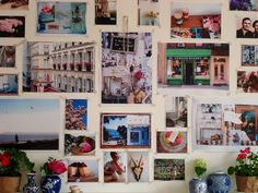 Vision board that dominates a whole wall...now that's dedication!