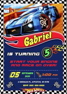 Festa Hot Wheels, Hot Wheels Party, Balloon Arch, Balloons, Hot Wheels Birthday, Birthday Cards, Birthdays, Digital, Gabriel