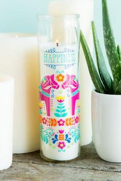 Happiness Prayer Candle