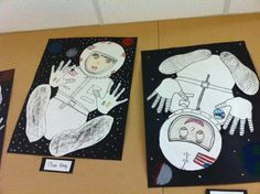 Awesome idea for Space Week posters - Kinderpond: Art Work 3rd Grade Art Lesson, 4th Grade Art, Grade 3, Third Grade, Art Education Projects, Art Projects, Project Ideas, Middle School Art, Art School