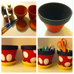 Do It Your Disney – Mickey and Minnie Planters- Follow #SightApp and save an entire article or recipe by 1 screenshot (Check How: https://itunes.apple.com/us/app/sight-save-articles-news-recipes/id886107929?mt=8