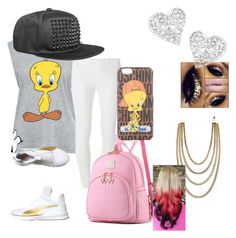 """""""Tweety bird"""" by imapie on Polyvore featuring Paul & Joe Sister, Dorothy Perkins, Puma, Moschino and Vivienne Westwood"""