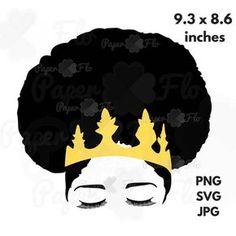 Download Free Woman Silhouette Clip Art | Black Female Afro ...