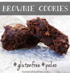 brownie cookies paleo