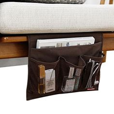 #Fakeface Homewares Coffee Washable Oxford 4 #Pockets Bedside Arm Chair Desk Sofa Slipcovers Storage Bag TV Remote Controller Holder Organizer Mattress Magzine B...